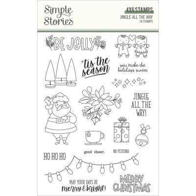 Simple Stories Jingle All The Way Clear Stamps - Jingle All The Way