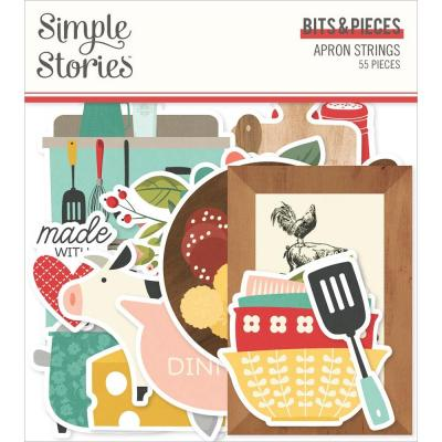 Simple Stories Apron Strings Die Cuts - Bits & Pieces