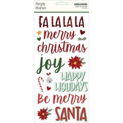 Simple Stories Jingle All The Way - Foam Stickers