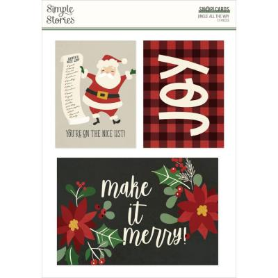 Simple Stories Jingle All The Way - Sn@p! Card Pack
