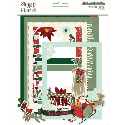 Simple Stories Jingle All The Way Die Cuts - Layered Chipboard Frames