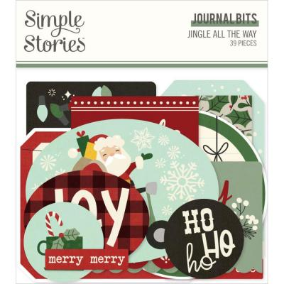 Simple Stories Jingle All The Way Die Cuts - Bits & Pieces