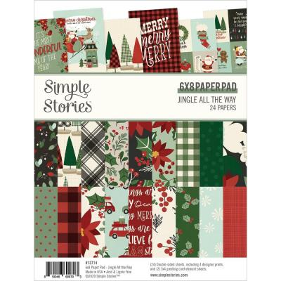 Simple Stories Jingle All The Way Designpapier - Paper Pad
