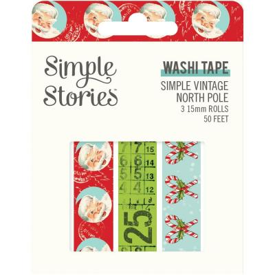 Simple Stories Simple Vintage North Pole Klebebänder - Washi Tape