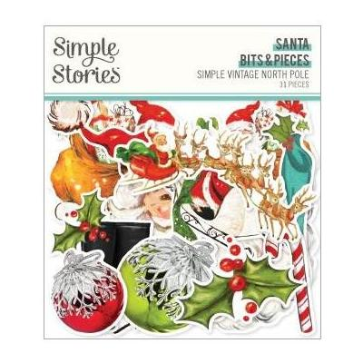 Simple Stories Simple Vintage North Pole Die Cuts - Bits & Pieces
