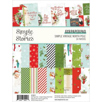 Simple Stories Simple Vintage North Pole Designpapier - Paper Pad
