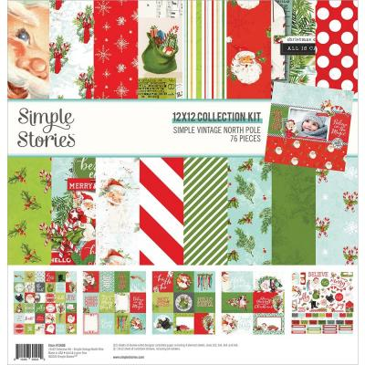 Simple Stories Simple Vintage North Pole Designpapier - Collection Kit