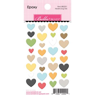 Bella BLVD Cooper Sticker - Hearts Dog Mix