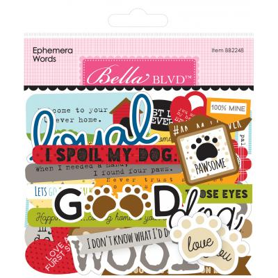 Bella BLVD Cooper Die Cuts - Ephemera Words