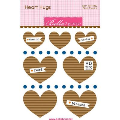 Bella BLVD Cooper Sticker - Give Thanks Heart Hugs