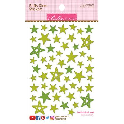 Bella BLVD Cooper Sticker - Pickle Juice Mix Puffy Stars Stickers