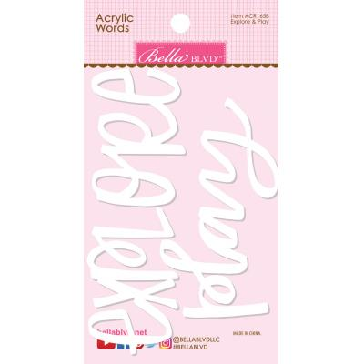 Bella BLVD Chloe Embellishment - Explore & Play Acrylic Words