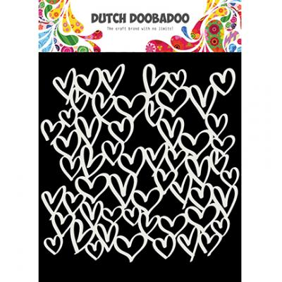 Dutch Doobadoo Stencil - Hearts