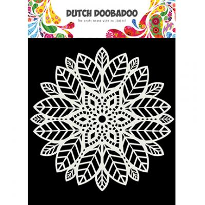 Dutch Doobadoo Stencil - Mandala Leaves