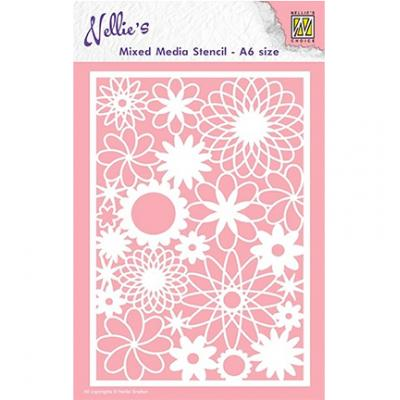 Nellies Choice Stencil - Flowers