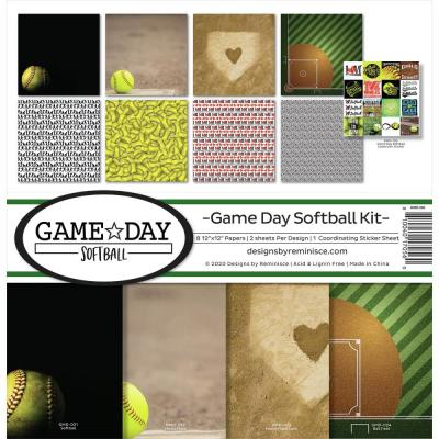 Reminisce Designpapier - Game Day Softball