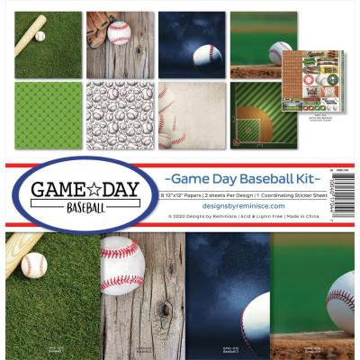 Reminisce Designpapier - Game Day Baseball