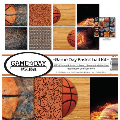 Reminisce Designpapier - Game Day Basketball