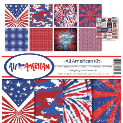 Reminisce Designpapier - All American