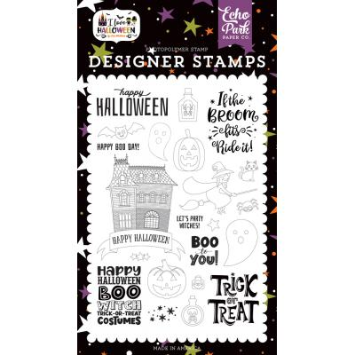 Echo Park I Love Halloween Clear Stamps - Boo to You