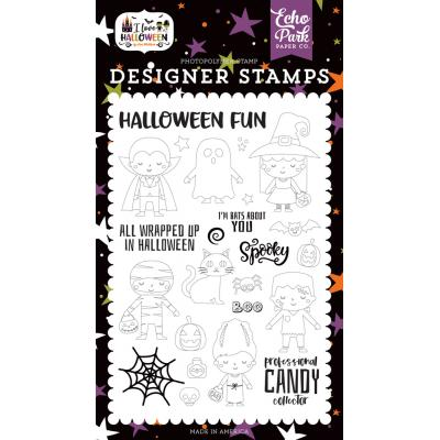 Echo Park I Love Halloween Clear Stamps - Too Cute To Spook