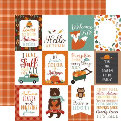 Echo Park Happy Fall Designpapier - 3 x 4 Journaling Cards