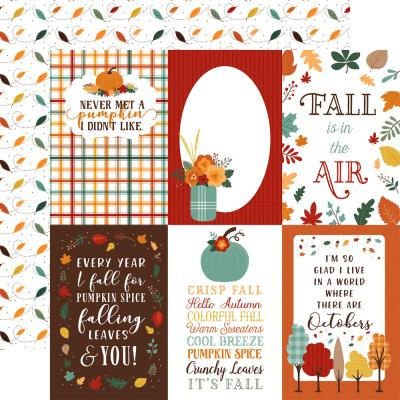 Echo Park Happy Fall Designpapier - 4 x 6 Journaling Cards