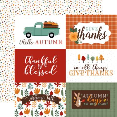 Echo Park Happy Fall Designpapier - 6 x 4 Journaling Cards