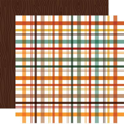 Echo Park Happy Fall Designpapier - Fall Picnic Plaid