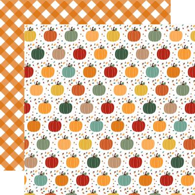 Echo Park Happy Fall Designpapier - Pumpkin Spice