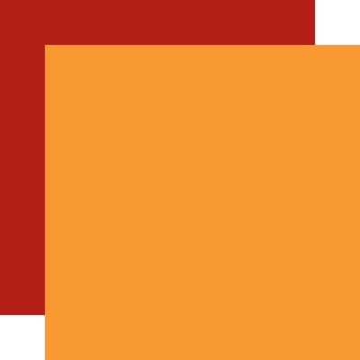Echo Park Happy Fall Cardstock - Orange Red