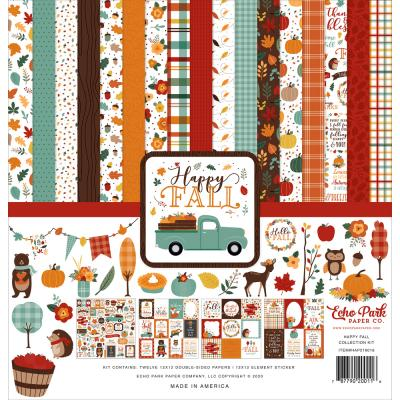 Echo Park Happy Fall Designpapier - Collection Kit