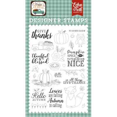 Echo Park Happy Fall Clear Stamps - Give Thanks