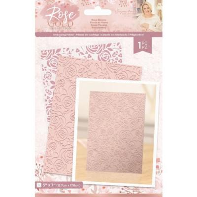 Crafter's Companion Rose Gold Embossingfolder - Rose Blooms