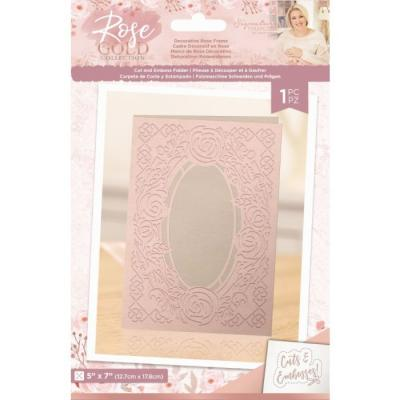 Crafter's Companion Rose Gold Cut And Embossingfolder - Decorative Rose Frame