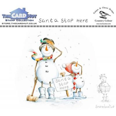 The Card Hut Clear Stamps - Santa Stop Here