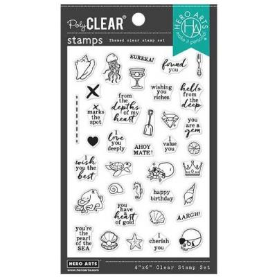 Hero Arts Clear Stamps - Deep Sea Messages