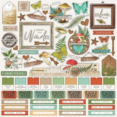 Simple Stories Simple Vintage Great Escape - Cardstock Stickers