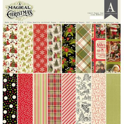 Authentique  A Magical Christmas Designpapier - Paper Pad