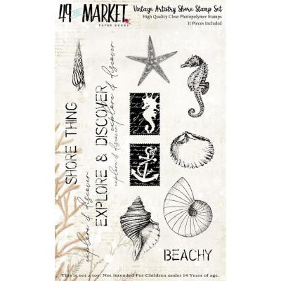 49 And Market Vintage Artistry Clear Stamps - Shore