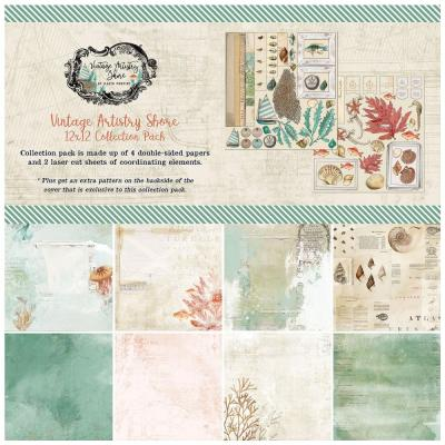49 And Market Collection Pack Designpapier Vintage Artistry - Shore