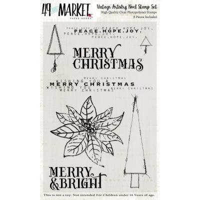 49 And Market Vintage Artistry Clear Stamps - Noel