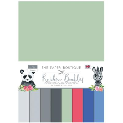The Paper Boutiue Rainbow Buddies Cardstock - Coloured Card Collection