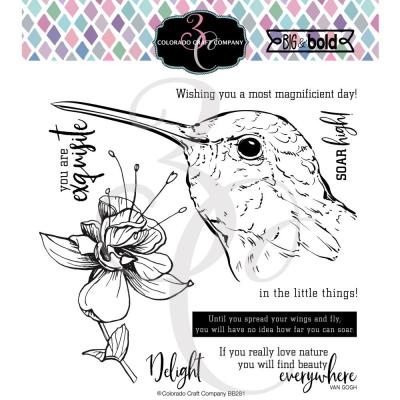 Colorado Craft Clear Stamps - Hummingbird Delight