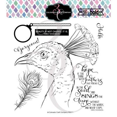 Colorado Craft Clear Stamps - Hope Sings Peacock