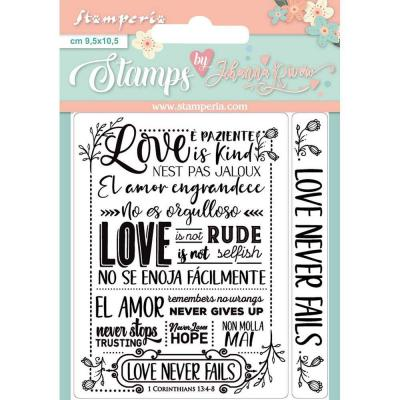 Stamperia Clear Stamps - Love Never Fails