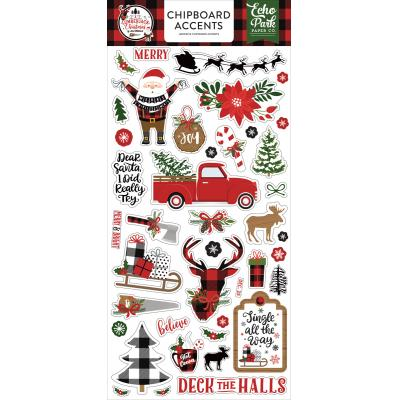 Echo Park A Lumberjack Christmas Sticker - Chipboard Accents