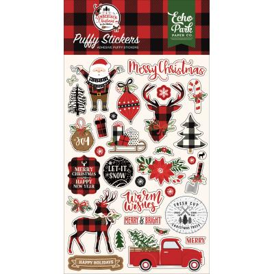 Echo Park A Lumberjack Christmas - Puffy Stickers