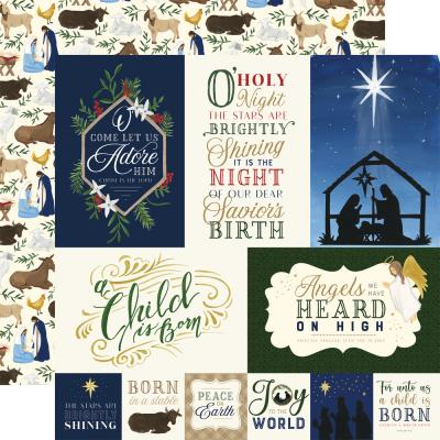 Echo Park Silent Night Designpapier - Journaling Cards