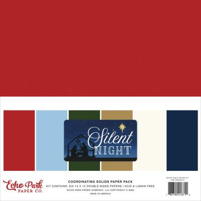 Echo Park Silent Night Cardstock - Solids Kit